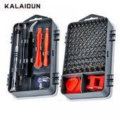 KALAIDUN 112 in 1 Screwdriver Set Magnetic Screwdriver Bit Torx Multi Cell Phone repair tools