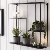 Wall shelf metal
