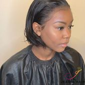 6 inches bob wig hairstyle. nice short hair style.