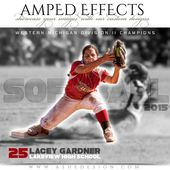 AMPED EFFECTS Sports Collages – STANDOUT – 8×10 & 16×20 Expertly Designed Digital Photography Sports Templates for Photoshop