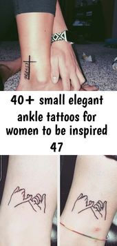 40+ small elegant ankle tattoos for women to be inspired 47