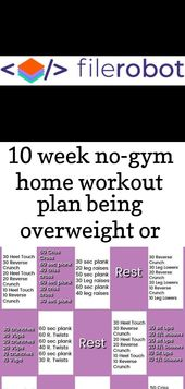 10 week no-gym home workout plan being overweight or clinically obese is a condi 1