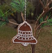 Christmas Bell Gingerbread Cookie Salt Dough Christmas Tree Ornament Handmade