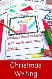 No Prep! Kindergarten Christmas Writing Activities- December Writing – Reading and Writing