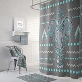 d7231a4554db0ced8b93f2459bdcd62f - Better Homes And Gardens Global Elephant Shower Curtain