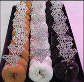 Bridal Shower Diamond Cupcake Topper | 12 | Diamond Donut Topper | Engagement Party Decor | Diamond Ring | Rustic Bridal Shower Decor