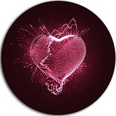 DesignArt 'Happy Valentine's Day' Graphic Art Print on Metal | Wayfair