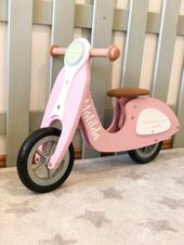 """Little Dutch 4373 Holz Laufrad Roller LoopScooter Pink Rosa 