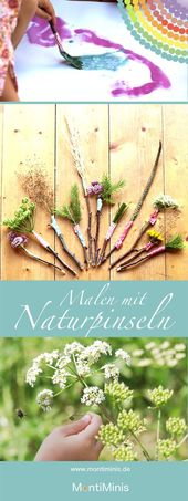 Basteln Sie selbst Naturpinsel – MontiMinis   – Kunst Grundschule