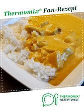 Hähnchen Curry mit Kokosmilch, pikant