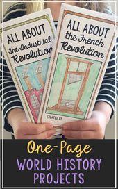 WORLD HISTORY Tasks | Set of 27 Analysis Brochure Actions | Check Prep