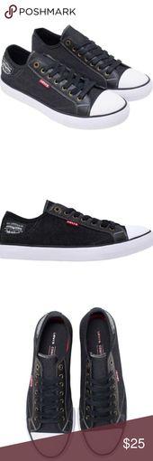 Levi's Mens Stan Buck Sneakers Comfort Technology Color; Black Denim Comfort Tech Insole – Comfort Tech removable insole Non-Marking Rubber Outsol…