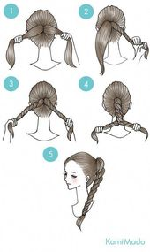Hair Styles Updo Easy Twisted Ponytail 20 Trendy Ideas #PromUpdoHairstyles