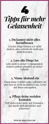 4 Tipps für mehr Gelassenheit