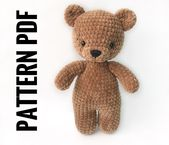 PDF Pattern Crochet Toy Cute Bear Caramel Amigurumi Pattern