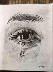 Zeichenaugen weinen Bleistiftkunst 29+ Ideen