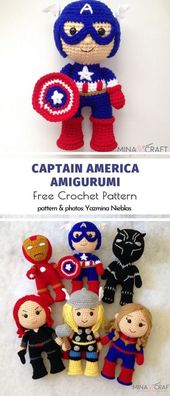 Superhero Amigurumi Ideas Amigurumi techniques allow us to create characters bor…