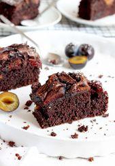 Ciasto Czekoladowe Ze Sliwkami W 10 Minut Food Baking Food And Drink