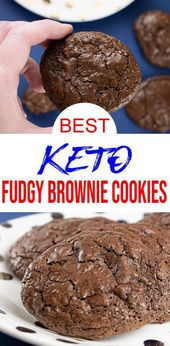 BEST Keto Cookies! Low Carb Keto Chocolate Fudge Brownie Cookies Idea – Quick & Easy Ketogenic Diet Recipe – Completely Keto Friendly
