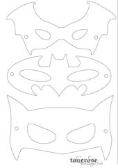 Superhero Activities Free Superhero Masks To Color  Superhero