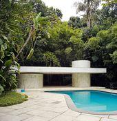 Swimming Pool Instituto Moreira Salles In Rio De Janeiro Brazil 1951 Oscar Niemeyer Architecture Interior Architecture Design