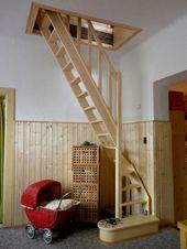 53+ Smart Tiny House Loft Stair Ideas – #house #Id…