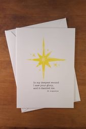 In my deepest wound I saw your glory. Encouragement card, Saint quote, St Augustine, inspirational q – Products