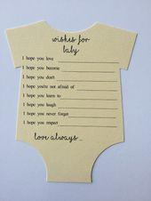 Baby Cards Super nette Wünsche für Baby Karte Cut Outs in ein Strampler (etwa rund 5 Zoll...