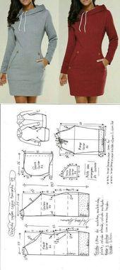 Perfektes Hoodie-Kleid für das kühlere Wetter