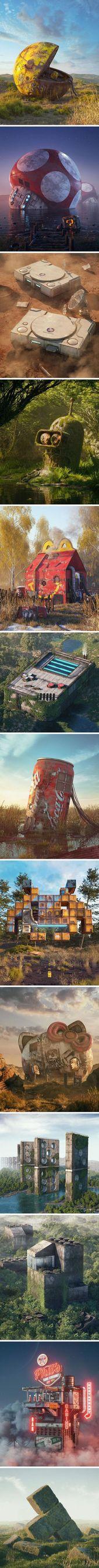 Pop Culture Apocalypse In Amazing Digital Art By Filip Hodas – #Amazing #Apocaly…