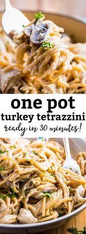 Turkey Tetrazzini on the Stovetop – Easy One Pot Pasta Recipe