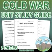 Chilly Struggle Unit Research Information (U.S. Historical past / World Historical past) | TpT