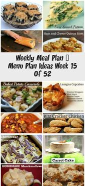 Weekly Meal Plan – Menu Plan Ideas Week 15 Of 52