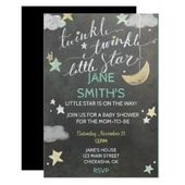 Baby Showers Twinkle Twinkle Star Baby Shower Invite