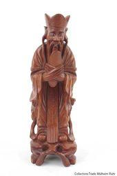 Details Zu China 20 Jh Holzfigur A Chinese Wood Figure Of A Dignitary Cinese Chinois Holzfiguren Ebay China