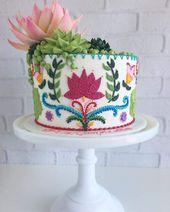 Kuchen, die mit Nadel und Faden des Kuchenkünstlers Leslie Vigil bestickt zu sein scheinen   – Torte scenografiche
