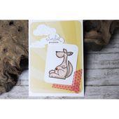 Karte zur Schwangerschaft – Geburtsanzeige – Känguruh-Motiv