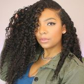 Amazing Medium Length Everyday Hairstyle With Perfect Curls For African American…