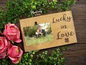 Lucky In Love Bilderrahmen, Freund Geschenk, Valentinstag Geschenk für ihn, Liebe Zitat Zeichen, Bridal Sh   – Products