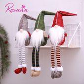 Photo of Rosana Weihnachten schwedische Weihnachtsmann Tomte Gnom sitzende Puppe Handgemachte langbeinige Hut nach Hause Neujahr