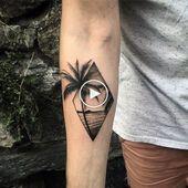 40 Little Beach Tattoos for Men – Seashore Design Ideas – #design ideas # … #Tattoos