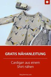 Wie man ein Shirt in einen Cardigan umwandelt