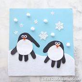 Handabdruck Pinguin – #Handabdruck #Pinguin #schwe…