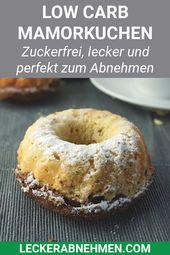 Juicy Low Carb Mamorkuchen – zuckerfreies Rezept zum Abnehmen
