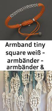 Armband tiny square weiß – armbänder – armbänder & armreife – mit lie 2