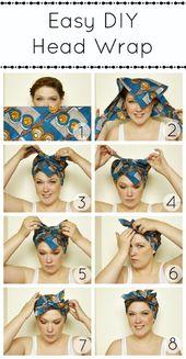 Bandana Hairstyles – Top 10 Simple Ways [Tutorials