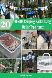 20 Genius Camping Hacks mit Dollar Tree artiklar