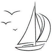 Free Vector | Chalk sailboat with birds outline vector 1512167 – by pandamanda82…