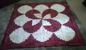 Strawberries and Cream Curved Log Cabin Quilt