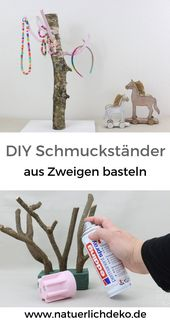 Tinker DIY jewelry stand from branches – Of course decoration